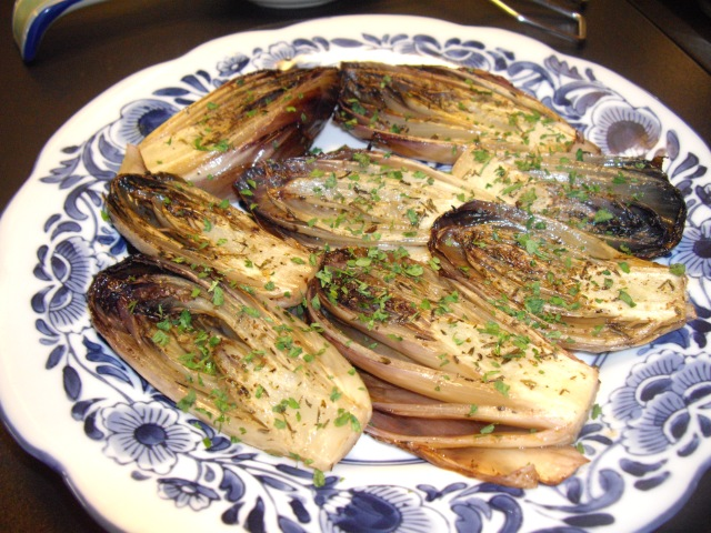 Sunday Dinner: Smoked Pork Roast with Red Endive