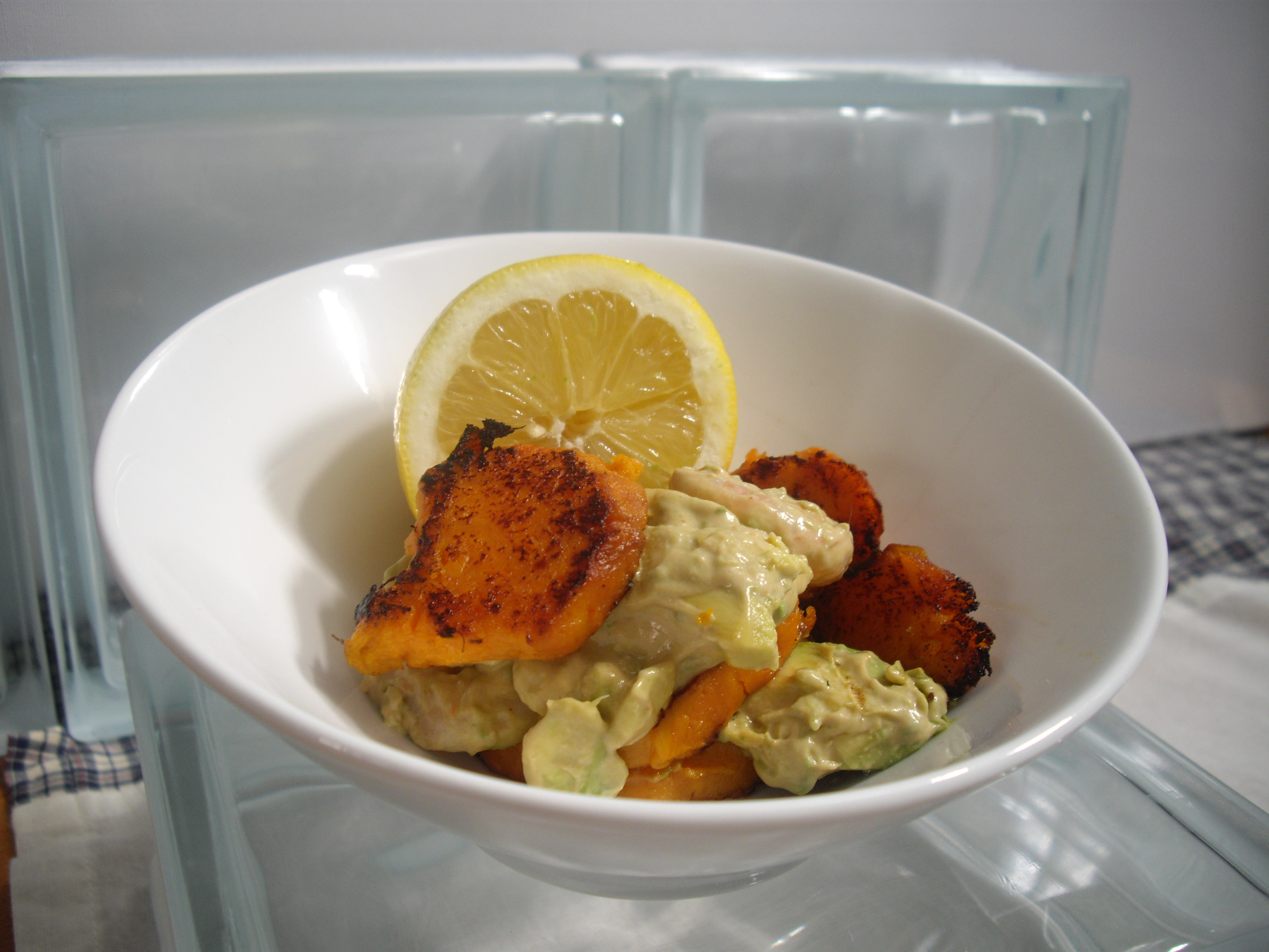 Shrimp, Avocado and Yam Salad Revisited | Cooking in Sens