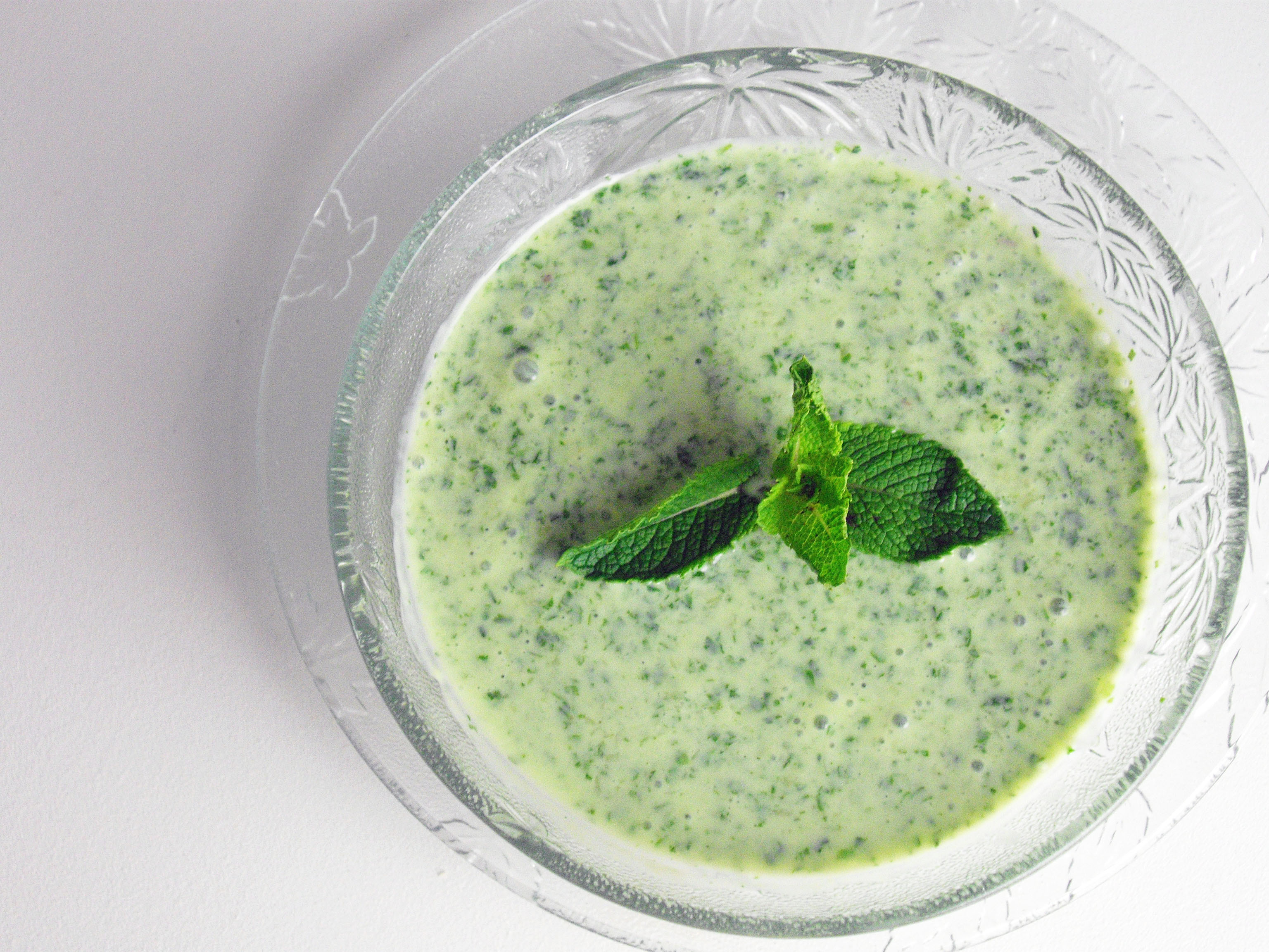 ... and yogurt soup with ginger lime and mint yogurt mint sauce recipe
