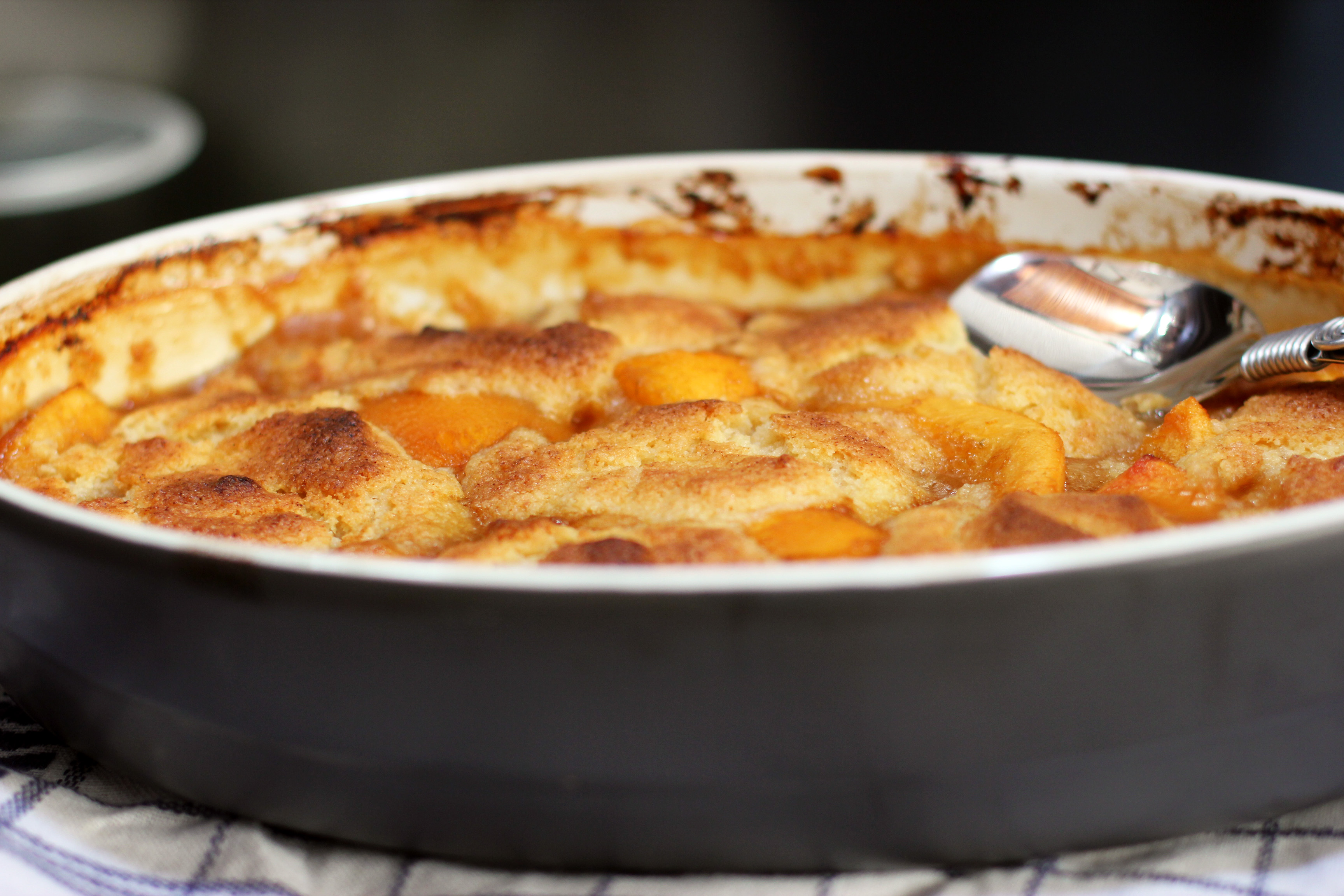 Speaking of Jamie, this peach cobbler is from my new book, Jamie ...