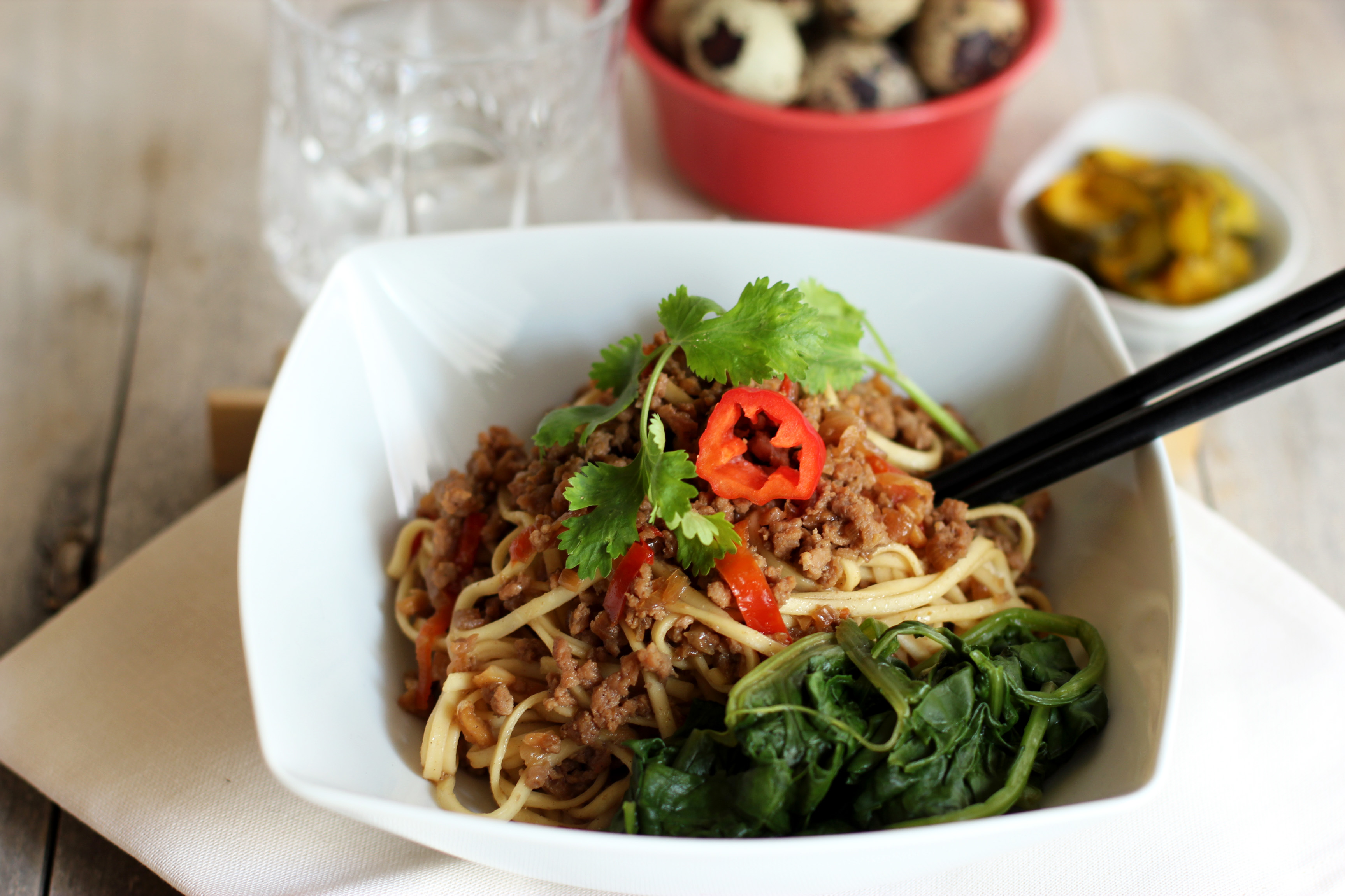Spicy Ground Veal Noodles