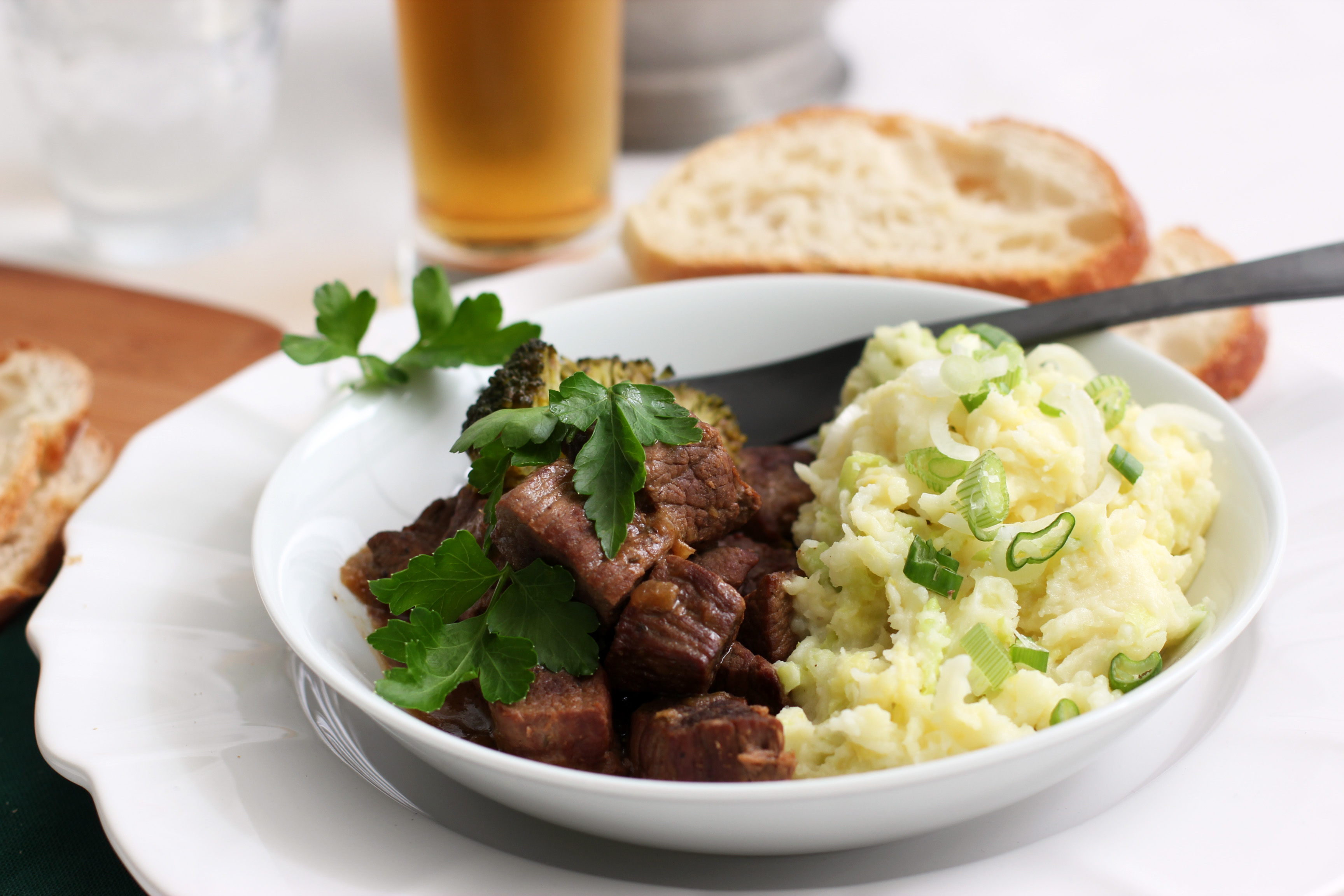 Irish Beef Stew with Colcannon